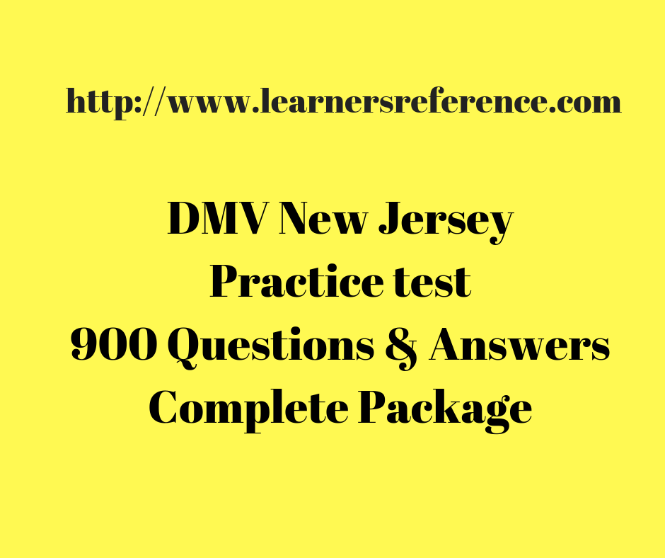 NJ Driving Test Questions and Answers Practice