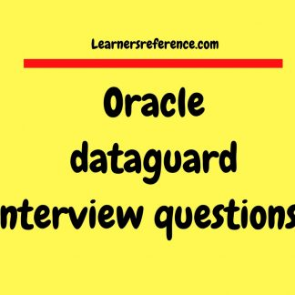 Oracle Database Archives - Page 35 of 44 - Learnersreference com