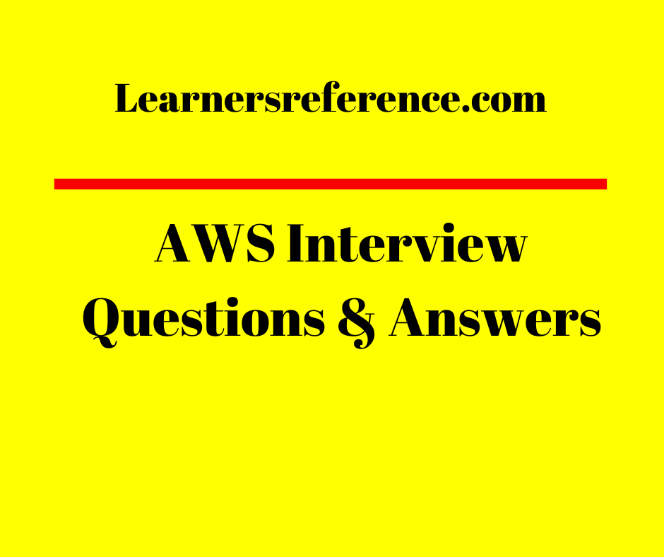 AWS Interview Questions